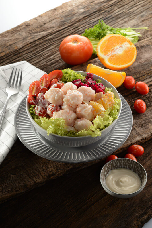 Fruit Salad with Prawn Paste