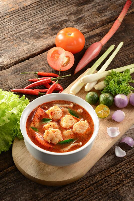 Thai Tom Yum Soup with Prawn Paste