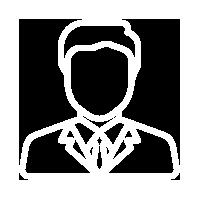 white staff outline icon