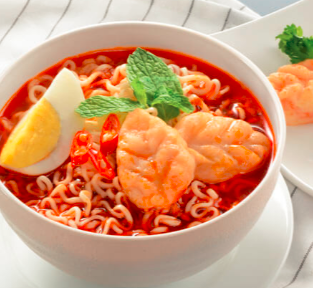 Maggie with Prawn Paste and Egg