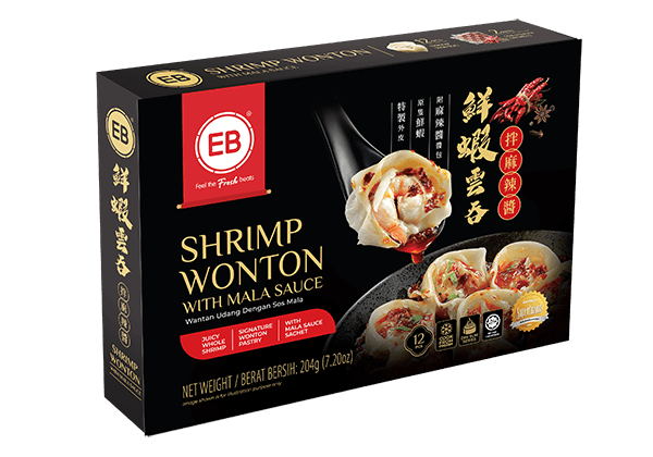Shrimp Wonton Mala Packaging